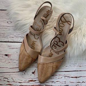 Sam Edelman Slingback Othello Strappy Kitten Heels
